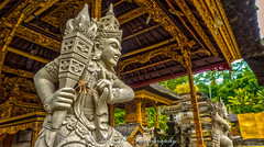 The Warrior at the Holy Water Temple (The Happy Traveller) Tags: tampaksiring bali indonesia tirtaempulbali historicalbuilding worldheritagesite hdr holytemple