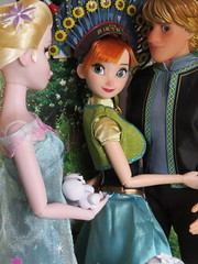 Birthday love (Foxy Belle) Tags: doll disney frozen fever diorama 16 birthday anna kristoff boyfriend romance embrace elsa sister