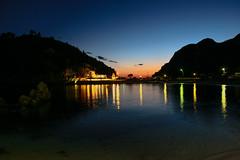 night beach (philippbenji) Tags: sea gulf palaiokastritsa corfu reflection