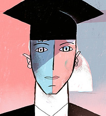 Should boys and girls be taught separately in schools? (sergey, prktr) Tags: editorial illustration guardian boy girl education school alumni graduation