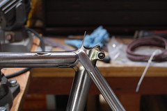 Bi-laminate seat cluster finished. Point had a mind of its own.. (mapcycles) Tags: mapbicycles bilaminate pacenti mafac columbus filletbrazed