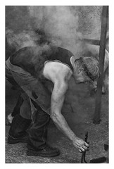 The Farrier (dunne_s) Tags: second forge farrier horses horseshoes smoke mono