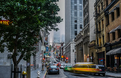 sacramento street taxi (pbo31) Tags: bayarea california nikon d810 color july 2017 summer boury pbo31 city urban sanfrancisco financialdistrict infinity lightstream motion traffic roadway motionblur gray taxi