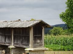 droogschuur, anti muis etc (112tje) Tags: spanje mais schuur droog pelgrimage pilgrimage spain store corn drying shed pèlerin peregrino pelgrim