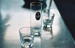 Empty Glass (Jetcraftsofa) Tags: pentaxsv helios442 proplus200 35mm filmphotography glass steel beer bourbon gaffelkölsch