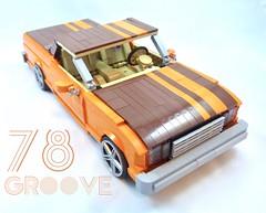 '78 El Camino (Lino M) Tags: chevy chevrolet el camino car truck lego lino martins lug nuts build challenge cult following orange brown 1970s 70s super