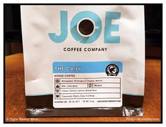 Joe Coffee (Doyle Wesley Walls) Tags: lagniappe 5991 coffee bag nicaragua packaging iphonephoto housecoffee bagofcoffee joecoffeecompany doylewesleywalls roastdate words text