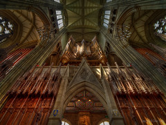 Lancing College HDR (Dave Sexton) Tags: lancing west sussex united kingdom uk britain college chapel walker pipe organ columns arches vaulted ceiling carved wood panels hdr pentax k1 samyang 14mm f28 dxo photomatrix affinityphoto hing