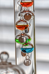 Galileo Thermometer (maytag97) Tags: maytag97 nikon d750 tamron 150 600 150600 galileo thermometer glass temperature indoor inside measure float heat