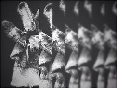 working class hero -11085 (Poetic Medium) Tags: blackandwhite ipod stilllife gloves snapseed multipleexposure