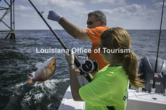CocodrieCharterFishing (10) WM (Louisiana Tourism Photo Database) Tags: fishing gulf gulfofmexico southernunitedstates angler anglers boating catchingfish charterboat offshore oiandgasrigs outdoorsports outdoors redsnapper southlouisiana water cocodrie louisiana usa