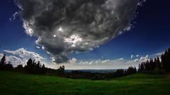 auerberg 2 explored (Bilderschreiber) Tags: cloud wolke over auerberg green grün bavaria bayern allgäu deutschland germany