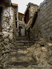 Boulders and Rocks (sinanfarooqui) Tags: hunza pakistan house stairs rocks stone boulder karimabad valley canon ladder brick