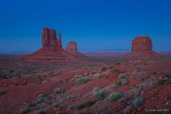 After the sun set (NettyA) Tags: 2017 arizona monumentvalley navajotribalpark sonya7r themittens usa utah travel dusk sunset evening light landscape desert arid merrickbutte