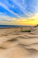 Sunset at lake Peipus (Mario Mesi) Tags: päikeseloojang vesi jää peipsijärv kauksi sunset lake sand estonia eesti