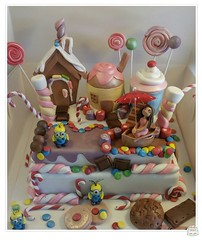 candyland and Minions cake by Creative Cake Art Melbourne 3504080 (www.creativecakeart.com.au) Tags: cake for lady that loved candy chocolate minions so it is candyland with her boat creative art novelty cakes melbourne birthday edible design likeforlike brunswick sculpture party celebration creativecakeart custom made amazing designer artistic