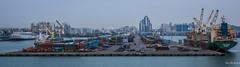2017 - Korea - Incheon City - 22 of 24 (Ted's photos - For Me & You) Tags: 2017 cropped incheon korea nikon nikond750 nikonfx tedmcgrath tedsphotos vignetting port incheonkorea portofincheon incheonport water harbour ships boats dock pier industrial containers wideangle