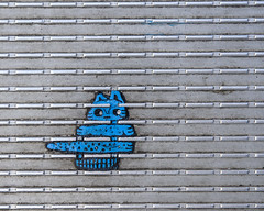 Blue Cat (Rory Prior) Tags: summer urban london street city graffiti chewinggum benwilson streetart millenniumbridge