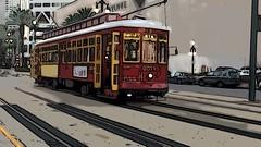 NOLA streetcar... (JazzLuv Photography) Tags: tooncameraapp iphonephotography neworleans streetcar