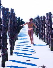 Les vacances en France de Lady Do (4) (dominiquita52) Tags: picardie somme beach plage moules bouchot ballerina ballerine dancer shades ombres quendplagelespins