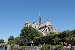 Notre Dame (riccardolongo1) Tags: notre dame paris sun sunny light city voyage travel france church cathedral europe sky beauty town river day elegant trees bridge channel french art world holidays easter view behind beautiful masterpiece