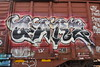 GARZ (TheGraffitiHunters) Tags: graffiti graff spray paint street art colorful freight train tracks benching benched boxcar garz floater