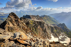 Mountain peak 'Piz Gannaretsch' (Davide Seddio) Tags: switzerland graubundencanton mountainpeak mountain swissalps nature outdoors pizgannaretsch