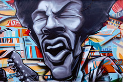 Seattle Immortal Musicians: Jimi Hendrix (Dennis Valente) Tags: 5dsr usa muralist washington art kurtcobain paint vate jimihendrix pnw udistrict seattle chriscornell zachbohnenkamp kevinsullivan spraypaint 2017 seattleimmortalmusicians urbanart streetart painter laynestaley mural contemporaryurbanart johnosgood universitydistrict wallart seattlemuralart sensei23