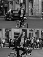 [La Mia Città][Pedala] (Urca) Tags: milano italia 2017 bicicletta pedalare ciclista ritrattostradale portrait dittico bike bicycle nikondigitale scéta biancoenero blackandwhite bn bw 102644
