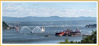 Le fleuve St-Laurent en face de Québec et la Baie de Beauport - Les Grands Voiliers  RDV 2017