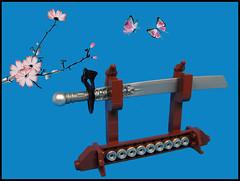 The Sword of Dynasty (Karf Oohlu) Tags: lego moc sword cherryblossom swordstand