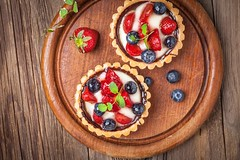 Fresh homemade fruit tart with strawberries and blueberries. (АнастасияЩербинина) Tags: tart fruit cream fresh strawberry blueberry temptation delicious crust blackberry dessert sweet horizontal topview homemade gourmet raspberry pie tasty bakery bake sugar pastry food chocolate snack poland