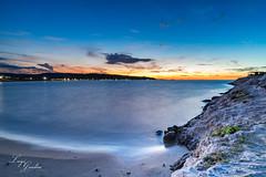Gargano Blue Hour (Luigi Gaudino) Tags: blue hour ora blu sunset landscape long exposure mare spiaggia sea rock rocce trabucco gargano vieste puglia