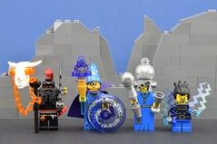 LEGO Random wizards🌟 (Alex THELEGOFAN) Tags: lego legography minifigure minifig minifigures minifigurine minifigs minifigurines wizard space blue rock black dwarf death monster imagination creativity titan metal thunder dress cape
