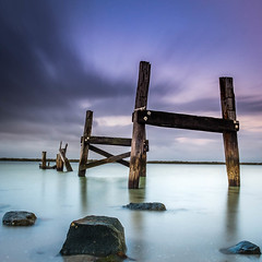 Winter Chill (BTAdelaide) Tags: longexposure landscapephotography ocean sunset goldenhour fujifilmxt2 nisifilters seascape jetty southaustralia adelaide clouds