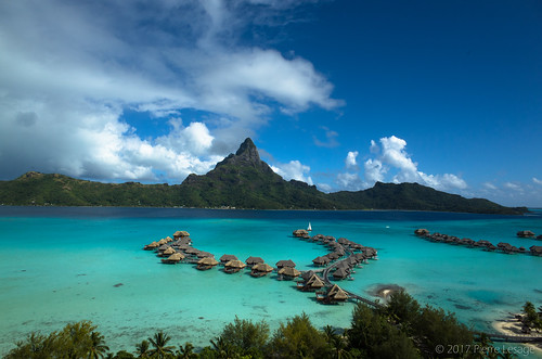 Kite Aerial Photography  on InterContinental Bora Bora Resorts and Thalasso Spa
