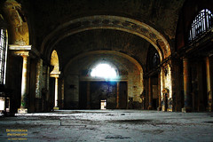 Let The Light Pour Over Me (DetroitDerek Photography ( ALL RIGHTS RESERVED )) Tags: allrightsreserved 313 detroit abandoned mcs michigan central train station depot passenger railroad railway lobby waitingarea michigancentralstation midwest usa america beauty weathered dilapidated graffiti damaged light glare floor canon rebel xs nothdr interior inside urbex prerenovation blight arch motown detroitderek motorcity ruin icon july 2017 archive digital eos