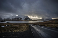 SELJAFJORDUR, SNAEFELLSNES, ICELAND. (IMAGES OF WALES.... (TIMWOOD)) Tags: iceland hringvegur route 1 roadtrip snaefullsness road fishing boats church island town village bay tim wood gallery storm stormy sky fjord west