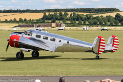 N21FS - 1952 build Beech 3NM Expeditor, post display at Duxford during Flying Legends 2017 (egcc) Tags: 1538 a738 be18 beech beech18 beech3nm beechcraft ca138 cfskj cfskjx duxford egsu expeditor flyinglegends flyinglegends2017 iwm imperialwarmuseum lightroom mathys n21fs airshow warbird