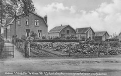 """Links de directeurswoning van de Tuinbouwkolonie """"Filadelfia"""" aan de Groningerweg 4 in Tynaarlo, voorheen het voorhuis van de boerderij """"Buitenzorg"""" van J. Fenseling (1795-1879). De tuinbouwkolonie is in 1912 gesticht door dominee Meijndert ten Broek. (hansr.vanderwoude) Tags: architecture buitenzorg filadelfia fenseling heidenheim inden broek tenbroek tuinbouwkolonie hoogeland bethel"""