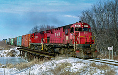 GB&W 319 Merrillan, WI (espeeus) Tags: railroad trains greenbay alco wisconsin red diesels