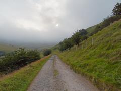 Uncertain weather (Blue Pelican) Tags: glossop derbyshire mossylea path mist sun
