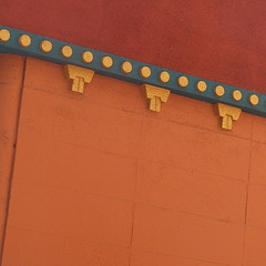 diagonal dots and doodads (msdonnalee) Tags: architecturaldetail wall walldetail minimalism minimalismo minimalisme orange orangewall abstractreality diagonal