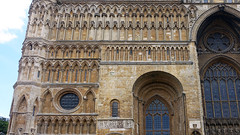 Lincoln Cathedral, West façade detail
