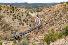 Amtrak #3 at Apache Canyon, NM (thechief500) Tags: amtrak bnsf glorietasubdivision railroads southwestchief nm newmexico