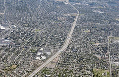 Aerial view of San Jose, Santa Clara County, California (cocoi_m) Tags: aerialphotograph aerial suburbia sanjose santaclaracounty california highway85 freeway intersection unionavenue camdenavenue almadenexpressway siliconvalley
