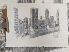 Downtown Cincinnati (Peter Rush - drawings) Tags: urbansketchers drawing sketch peterrush contemporaryartcenter downtown cincinnati