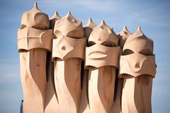 La Pedrera roof warriors (Peter J Brent) Tags: casamilà lapedrera barcelona spain
