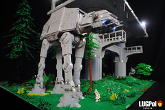 """""""Conduct your search and bring his companions to me."""" (dmaclego) Tags: lego star wars return jedi endor project sanctuary forest moon landing platform"""