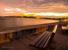 Beach sunset (patrickfranzis) Tags: milfordct milford ct connecticut beach sunset bench nikon d7000 franzis